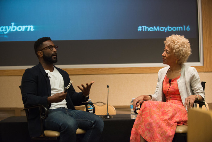 Wesley Morris and Margo Jefferson sitting at front of