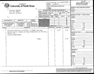 Primary view of [NTIEVA invoice for Airborne Express]
