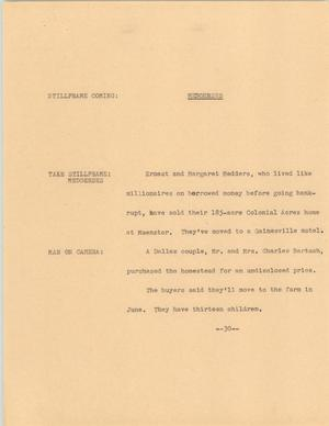 Primary view of object titled '[News Script: Medderses]'.