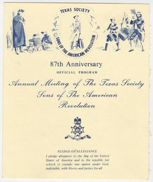 Primary view of object titled 'Annual Meeting of the Texas Society, Sons of the American Revolution, 1983'.