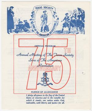 Primary view of object titled 'Annual Meeting of the Texas Society, Sons of the American Revolution, 1972'.