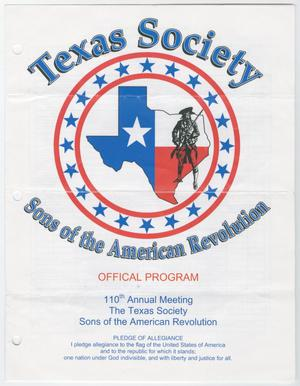 Primary view of object titled 'Annual Meeting of the Texas Society, Sons of the American Revolution, 2005'.