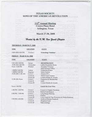 Annual Meeting of the Texas Society, Sons of the American Revolution, 2008