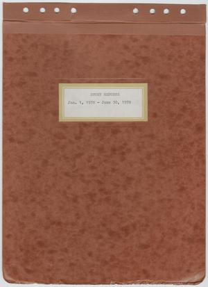 Primary view of object titled '[News Story Log: January 1 to June 30, 1978]'.