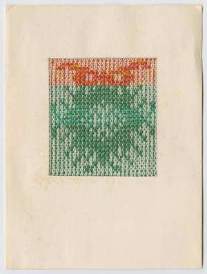 Primary view of object titled '[Woven wreath Christmas card]'.