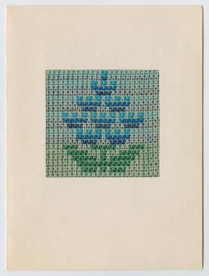 Primary view of [Woven bluebonnet Christmas card]