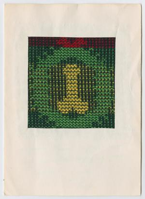 Primary view of [Woven wreath Christmas card]