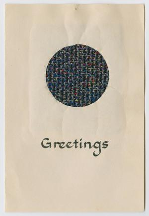Primary view of [Woven Christmas card]