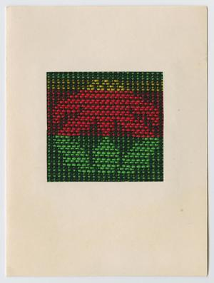 Primary view of object titled '[Woven flower Christmas card]'.