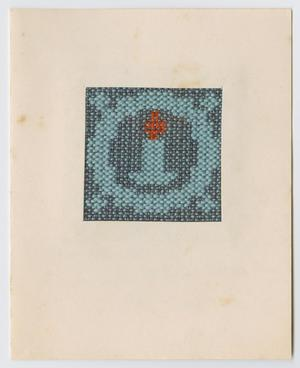 Primary view of [Woven candle Christmas card]