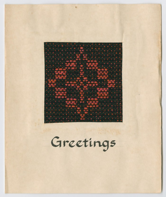 Woven greeting card the portal to texas history primary view of object titled woven greeting card m4hsunfo