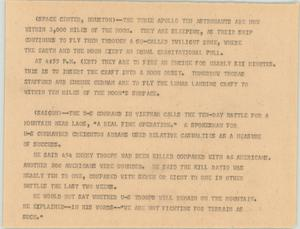 Primary view of object titled '[News Script: Space and Vietnam]'.