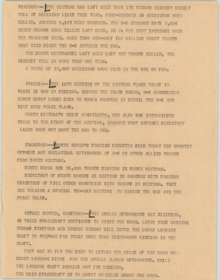 News Script: Vietnam War] - The Portal to Texas History