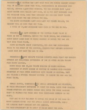 Primary view of object titled '[News Script: Vietnam War]'.