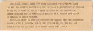 Primary view of object titled '[News Script: Reparation demands]'.