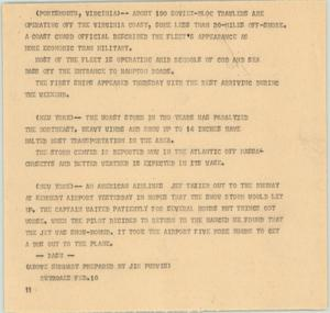Primary view of object titled '[News Script: East coast]'.