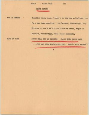 Primary view of [News Script: NAACP]