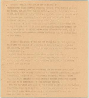 Primary view of object titled '[News Script: Assorted news bulletins]'.