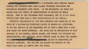 News Script: Kennedy telegrams, NBC News Scripts