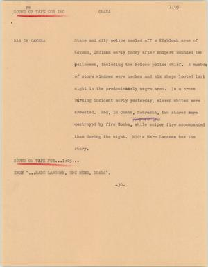 Primary view of object titled '[News Script: Omaha]'.