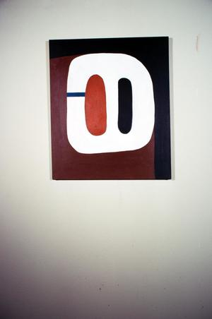 Acrylic painting from Modality series by Claudia Betti, Slides, circa 1955-1982