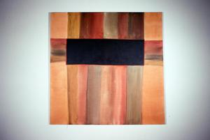 Acrylic painting in brown tones by Claudia Betti, Slides, circa 1955-1982