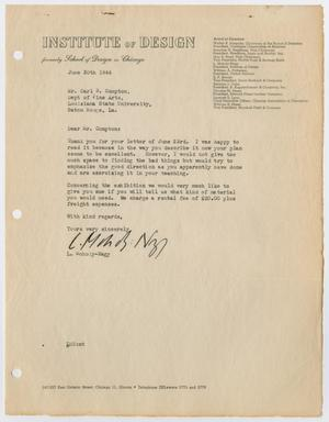Primary view of object titled '[Letter from László Moholy-Nagy]'.