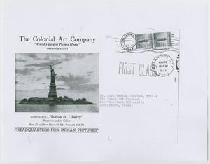 Primary view of object titled '[Colonial Art Company brochure]'.