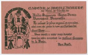 Primary view of object titled '[Advertisement from Caveau de Montemartre]'.