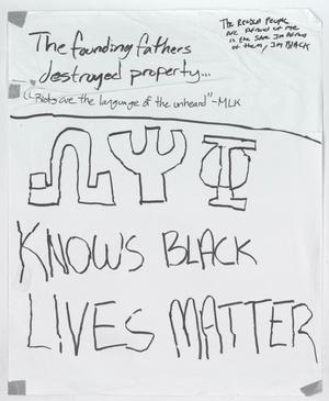 "Primary view of object titled '[White ""The Founding Fathers Destroyed Property"" poster]'."