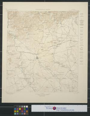 Primary view of object titled 'Topographic Sheet: Texas Uvalde Quadrangle'.