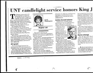 Primary view of [UNT candlelight service honors King Jr., January 15, 1995]