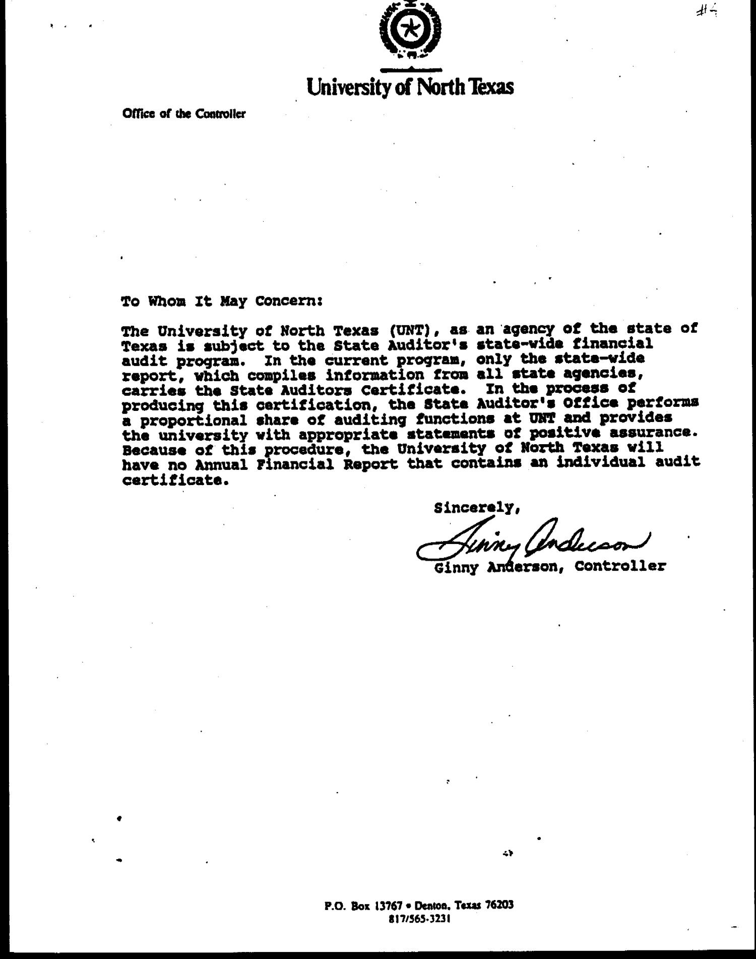 A Letter To Whom It May Concern from texashistory.unt.edu