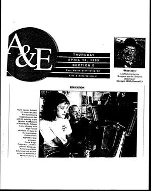 Primary view of [Arts & Entertainment, April 13, 1995]
