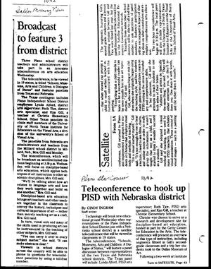 Primary view of object titled '[Clippings from newspapers, October 1992]'.