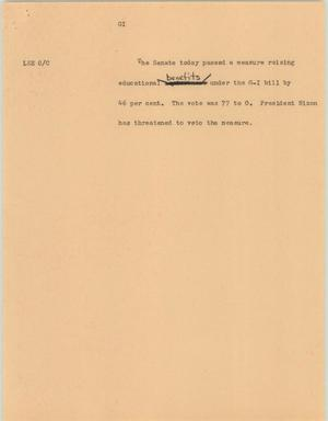 Primary view of object titled '[News Script: GI]'.