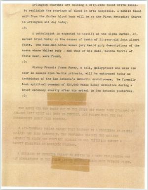 Primary view of object titled '[News Script: Miscellaneous news bulletins]'.