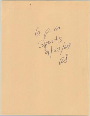 Primary view of object titled '[News Script: Evening sports roundup]'.