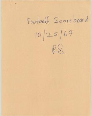 Primary view of object titled '[News Script: Football Scoreboard]'.