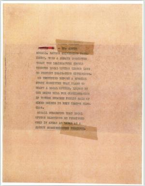 Primary view of object titled '[News Script: Baylor]'.
