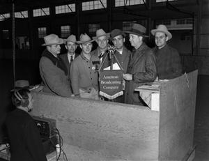 [The American Broadcast Company at the Fort Worth Stock Show]