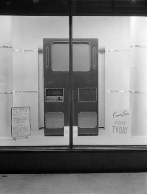 Primary view of [Window advertising for a television receiver set]
