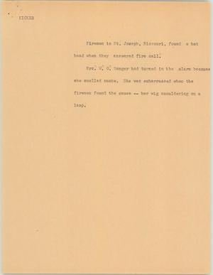 Primary view of object titled '[News Script: Kicker]'.