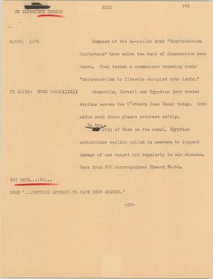 Primary view of [News Script: Suez]