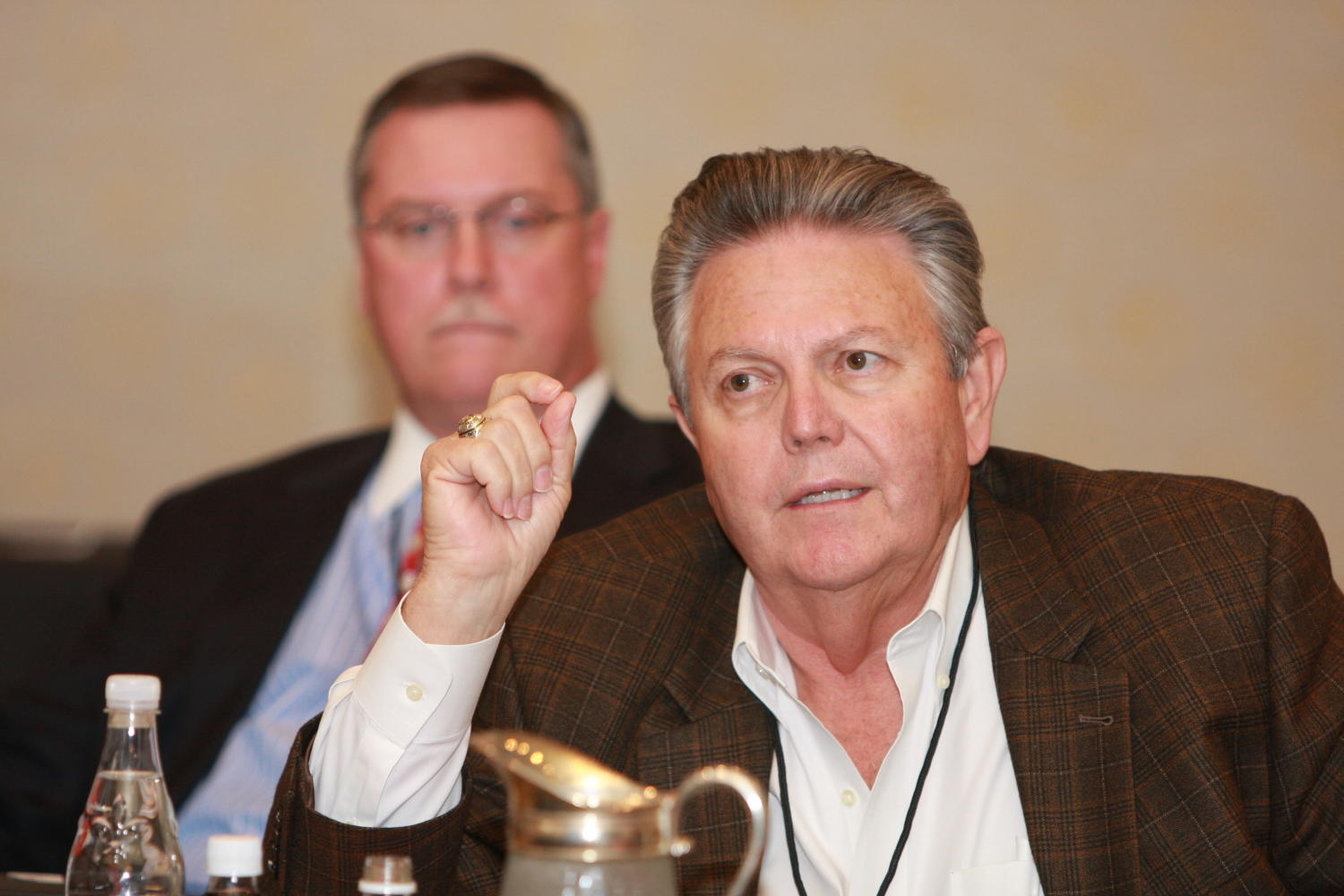 [Wesley R. Turner at TDNA conference], Photograph of Wesley R. Turner seen attending the 2010 Texas Daily Newspaper Association annual meeting held in Houston, Texas.,