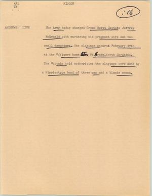 Primary view of object titled '[News Script: Middle]'.