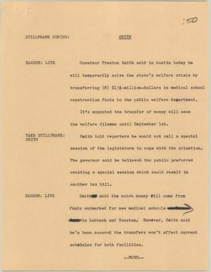 Primary view of [News Script: Smith]