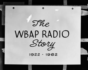 Primary view of object titled '[The WBAP Radio Story slide]'.