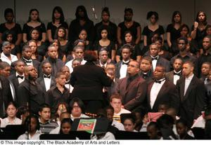 Primary view of object titled '[Christmas/Kwanzaa Concert Photograph UNTA_AR0797-147-045-0042]'.
