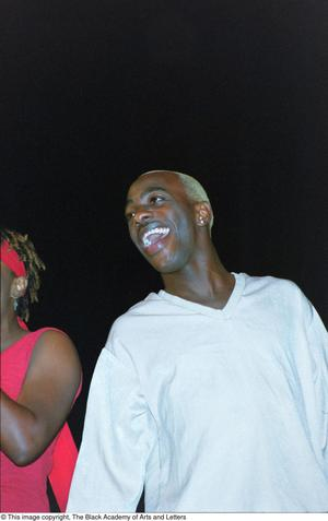Primary view of [Male performer during Lift Up Jamaica]